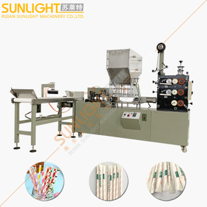 Double Color Printing High Speed Individual Drinking Straw Paper Packing Machine